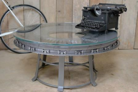 Rolls Royce Olympus Turbine Stator Disc Side Coffee Table Southern