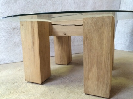 'H' frame Oak Table bottom