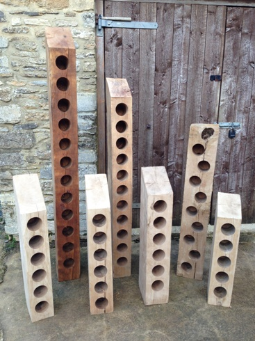 Oak Wine Racks by Southern Cliff Design