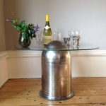 Bullet table with wine by Southern Cliff Design
