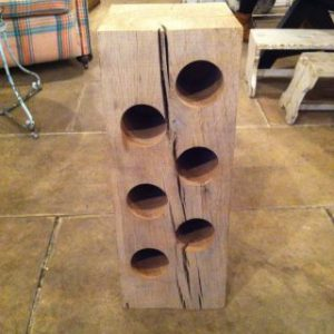 6 Bottle Oak Wine Rack by Southern Cliff Design