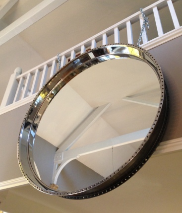 Engine Casing Made Into Mirror by Southern Cliff Design