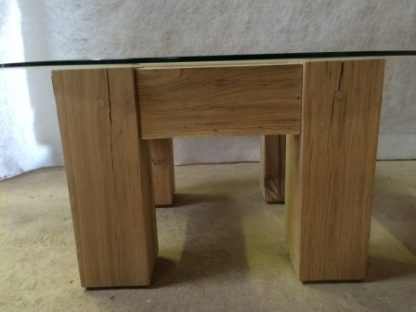 Side view of Square Oak Table