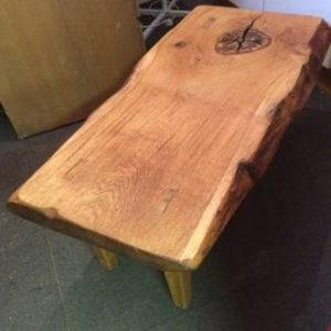 Waney Edge Oak Garden Table